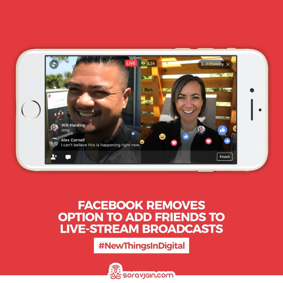 Facebook Removes Option to Add Friends to Live-Stream Broadcasts