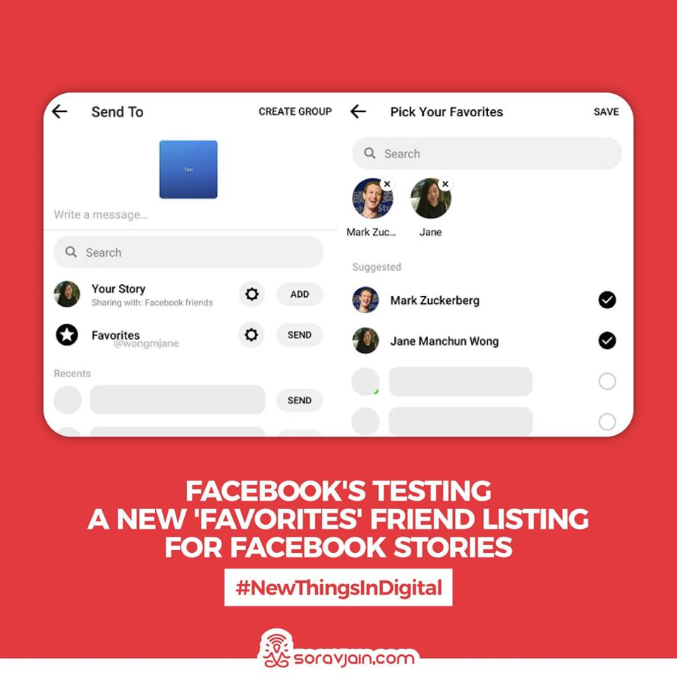 Facebook's Testing a New 'Favorites' Friend Listing for Facebook Stories