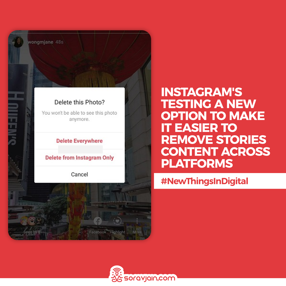 Instagram is Testing a New Option to Make it Easier to Remove Stories Content Across Platforms