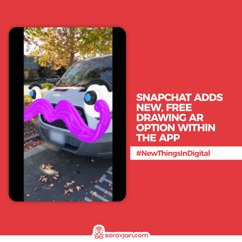 Snapchat Adds New, Free Drawing AR Option Within the App