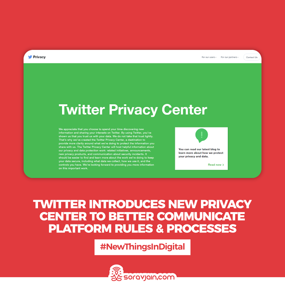 Twitter Introduces New Privacy Center to Better Communicate Platform Rules and Processes