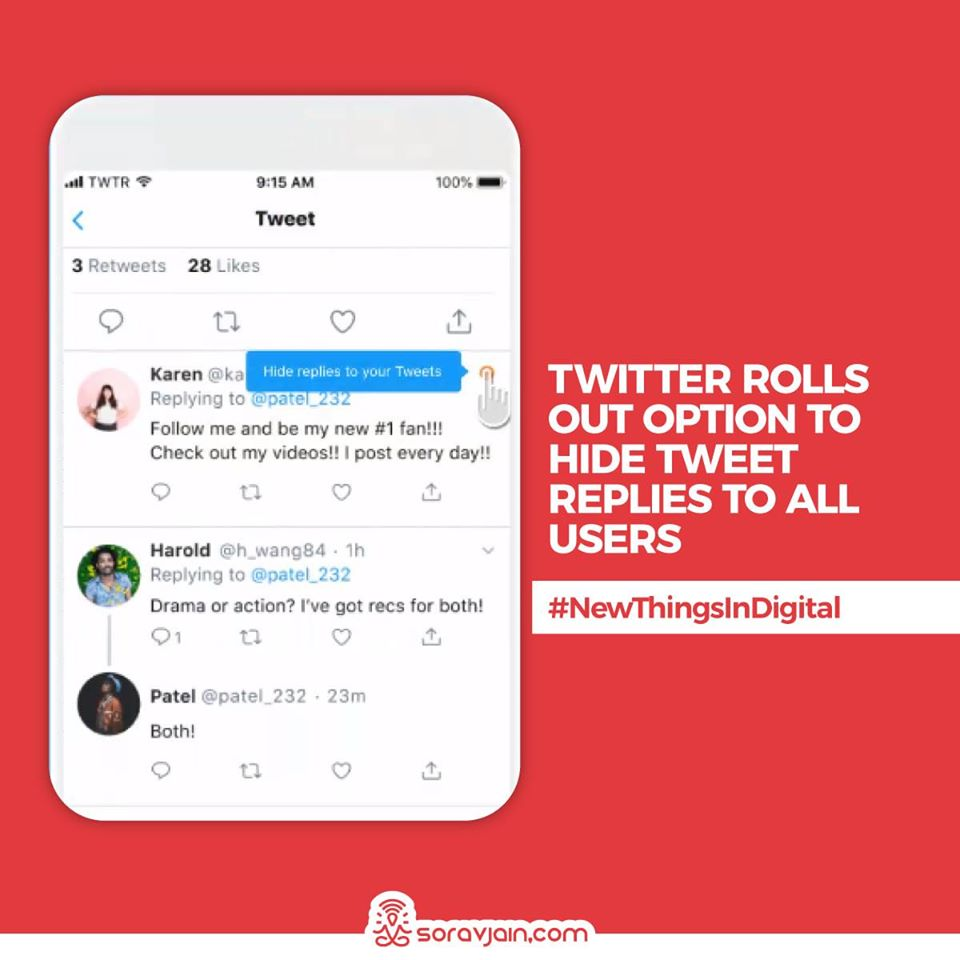 Twitter Rolls Out Option to Hide Tweet Replies to All Users