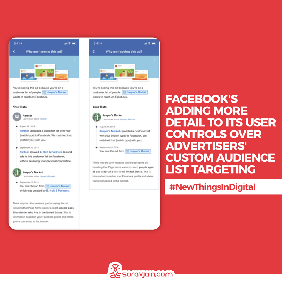 Facebook is Adding More Detail to its User Controls Over Advertisers' Custom Audience List Targeting