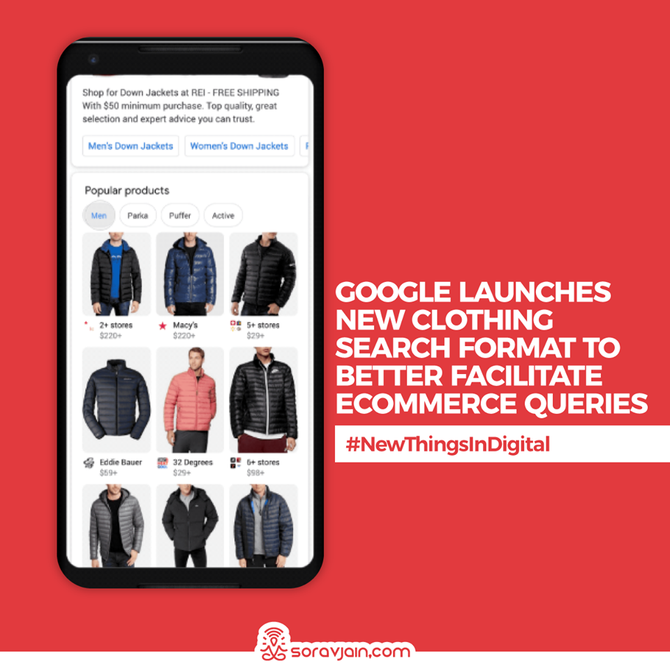 Google Launches New Clothing Search Format to Better Facilitate eCommerce Queries