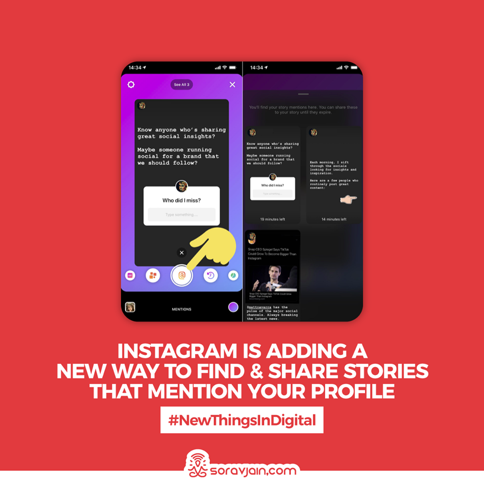 Instagram Is Adding a New Way to Find and Share Stories that Mention Your Profile