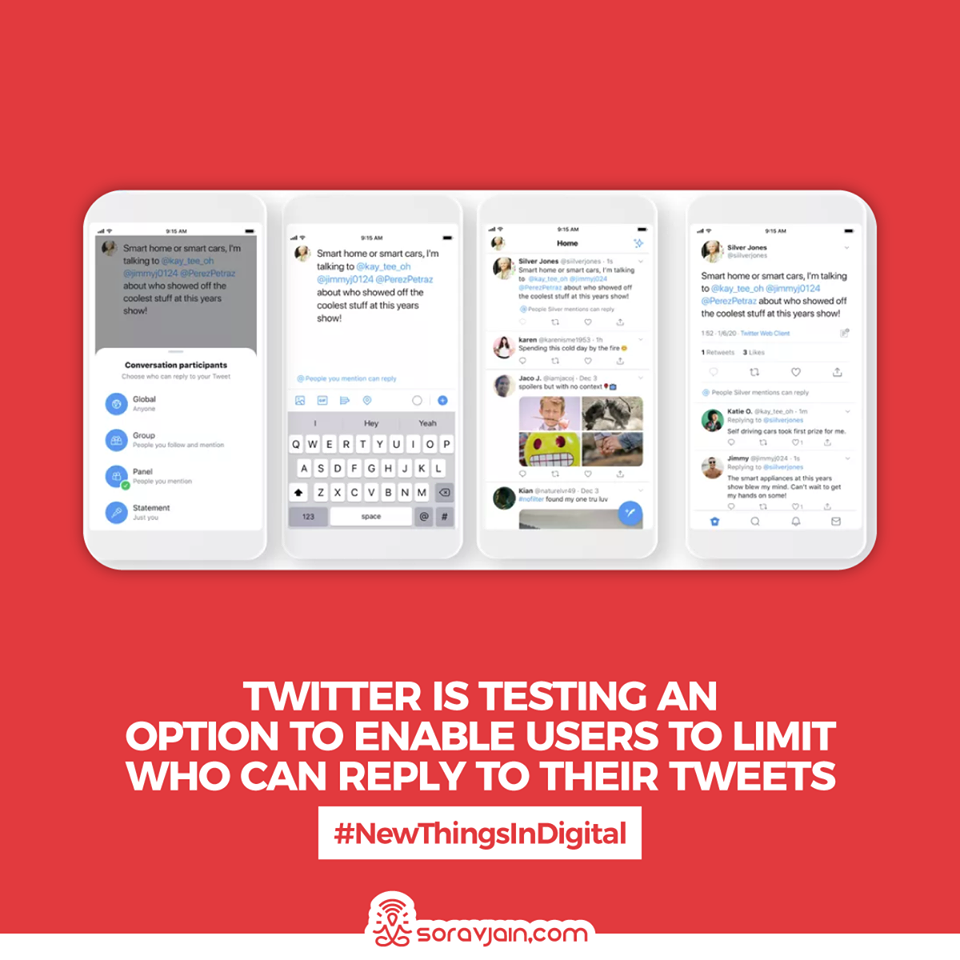 Twitter is Testing an Option To Enable Users to Limit Who Can Reply to their tweets