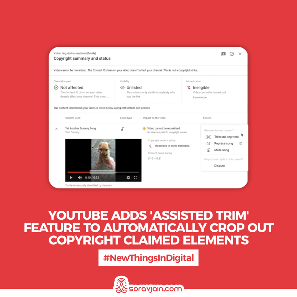 YouTube Adds 'Assisted Trim' Feature to Automatically Crop Out Copyright Claimed Elements