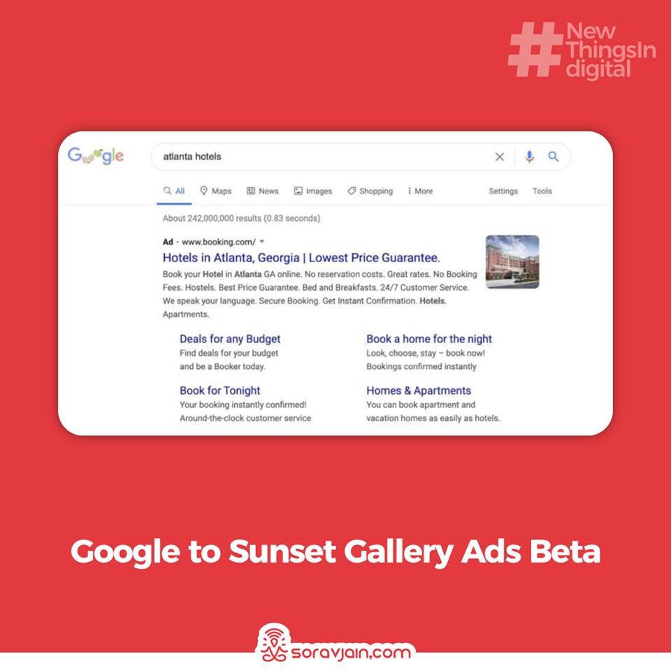 Google to Sunset' Gallery Ads Beta'