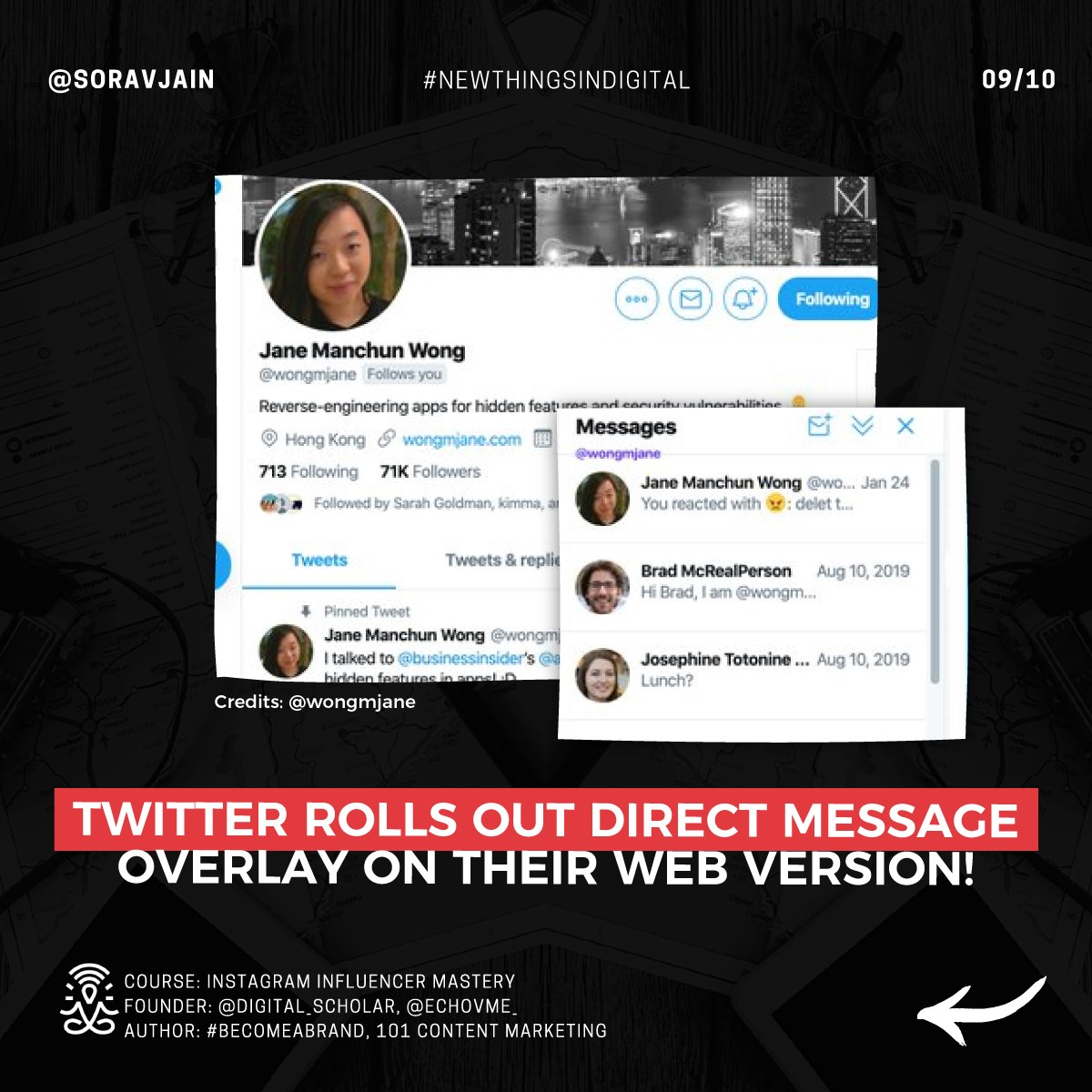 Twitter rolls our Direct Message overlay on their web version