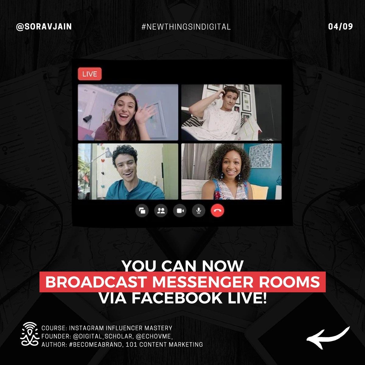 You can now broadcast Messenger Rooms via Facebook Live!