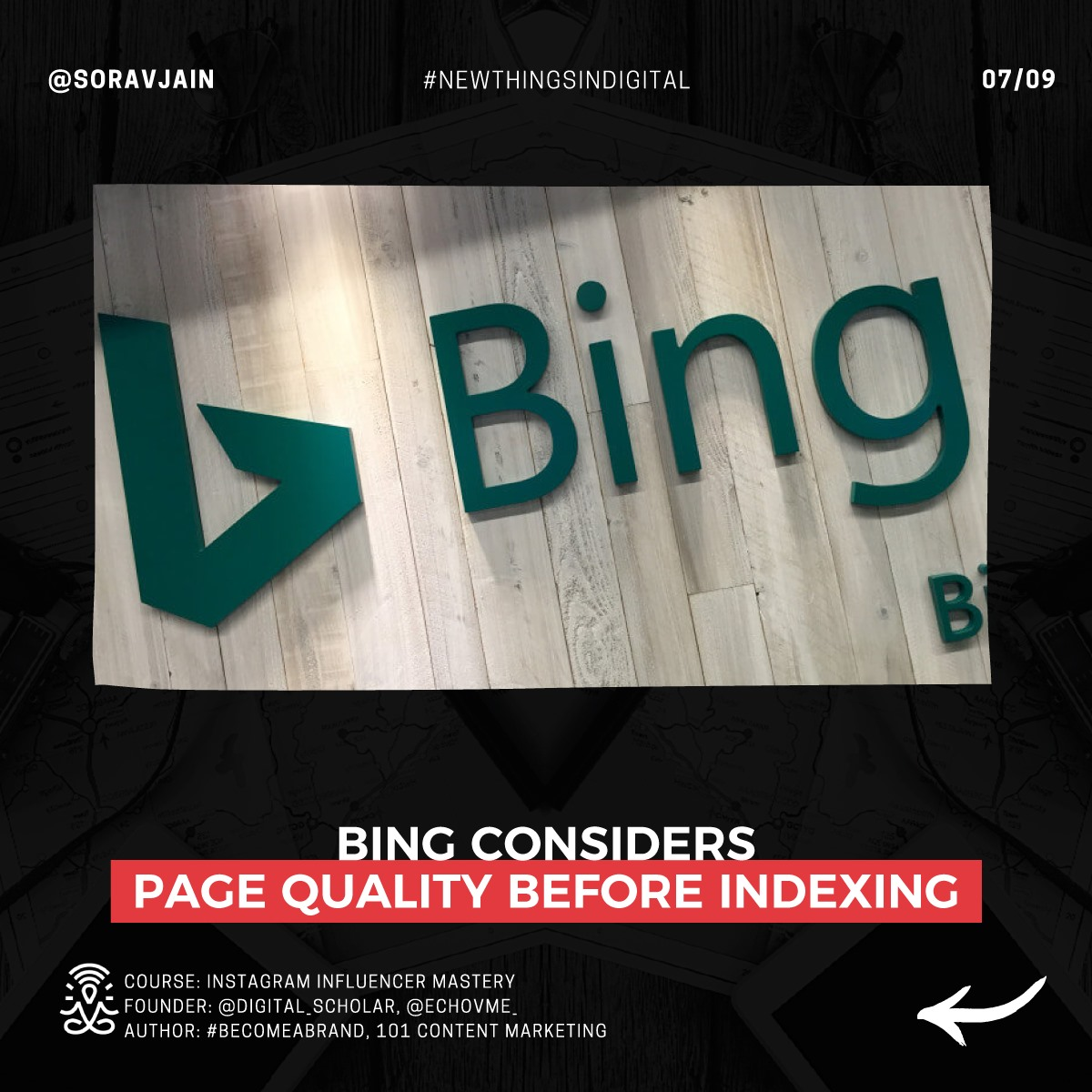 Bing considers page quality before indexing