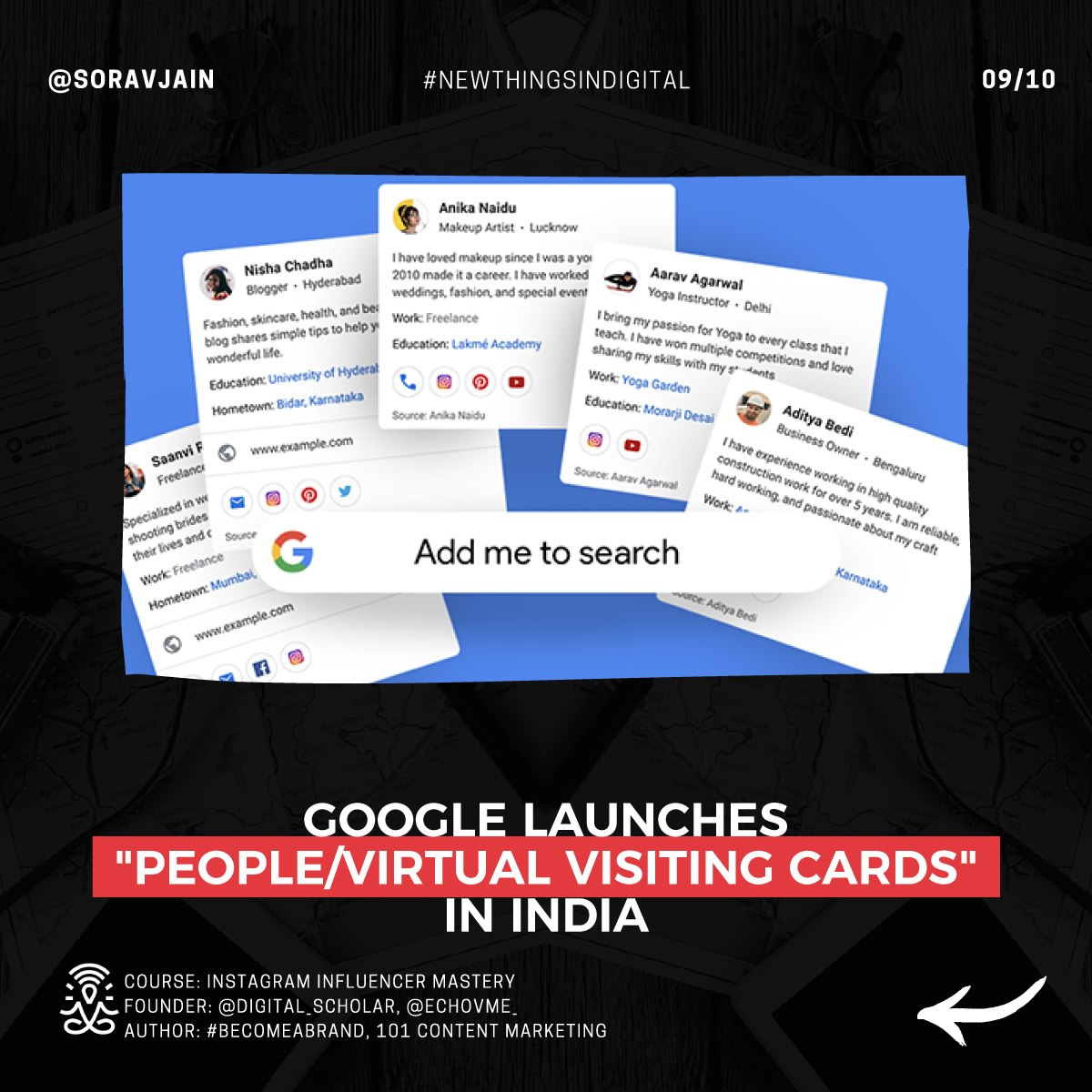 Google launches People-Virtual Visiting Cards in India
