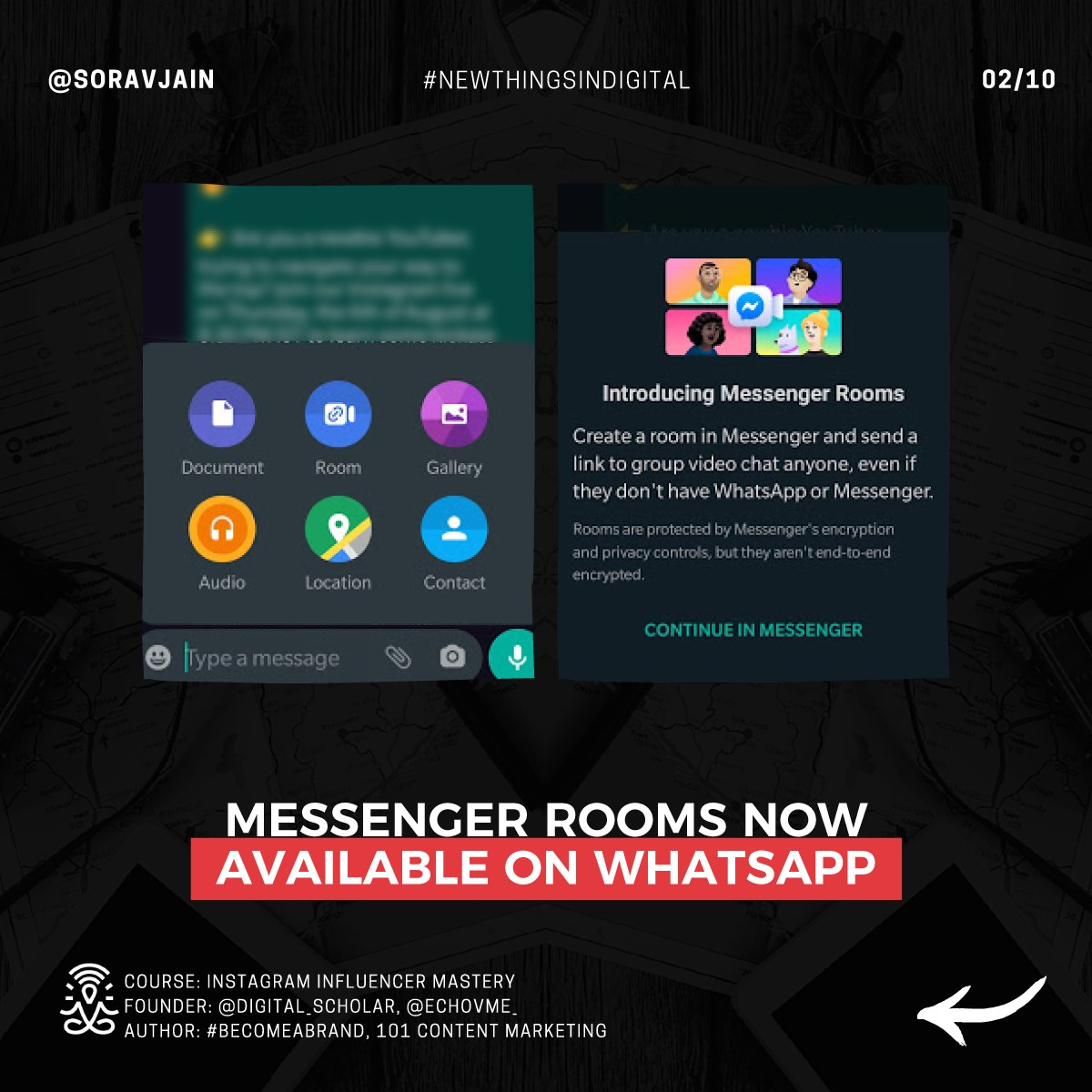 Messenger Rooms now available on WhatsApp