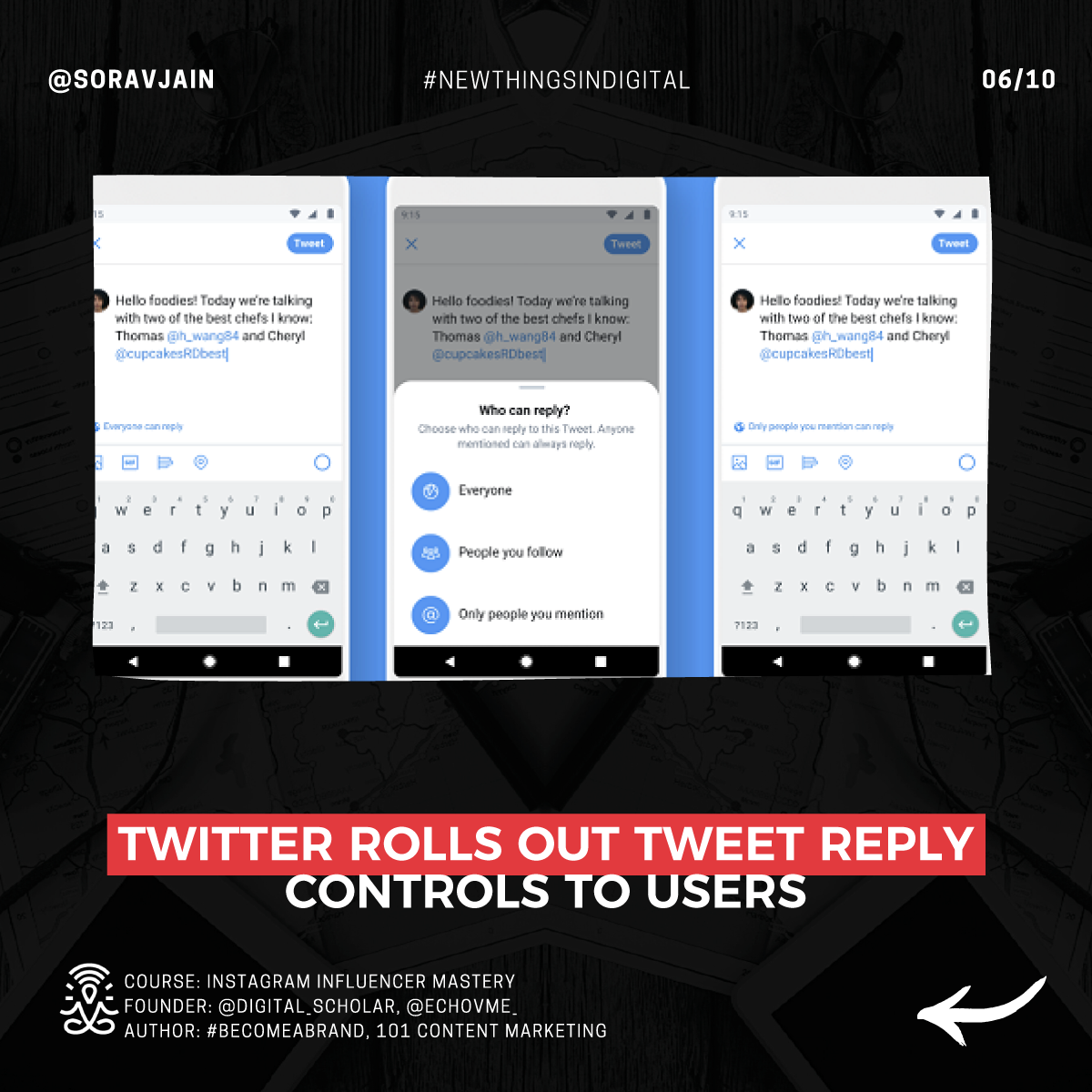 Twitter rolls out Tweet reply controls to users