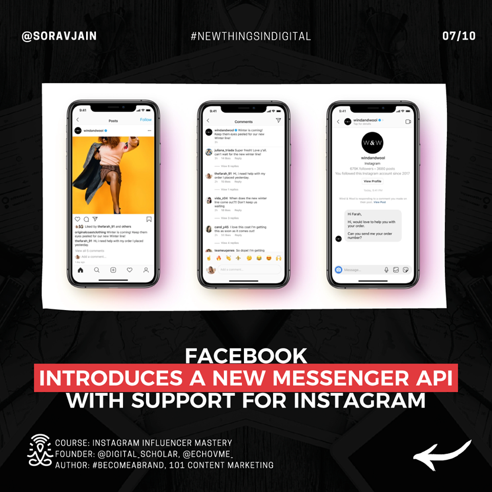 Facebook introduces a new Messenger API with support for Instagram