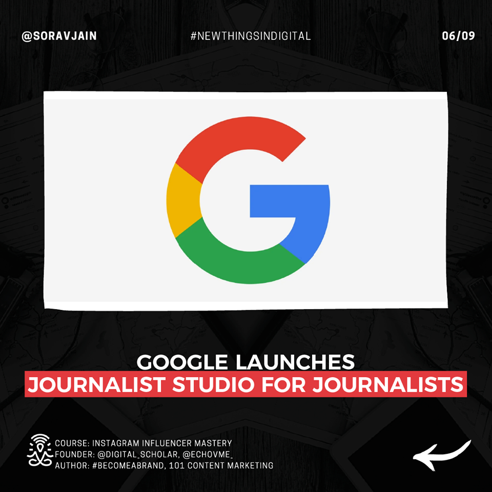 Google Launches Journalist Studio For Journalists