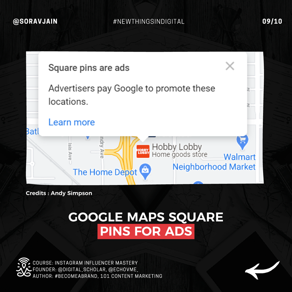 Google Maps Square Pins For Ads