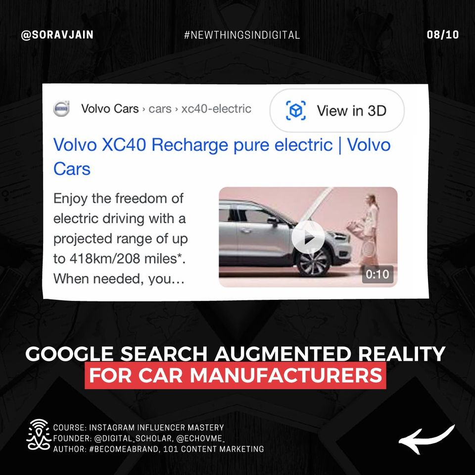 Google Search Augmented Reality For Car Manufacturers
