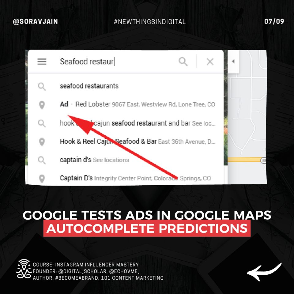 Google Tests Ads In Google Map Autocomplete Predictions