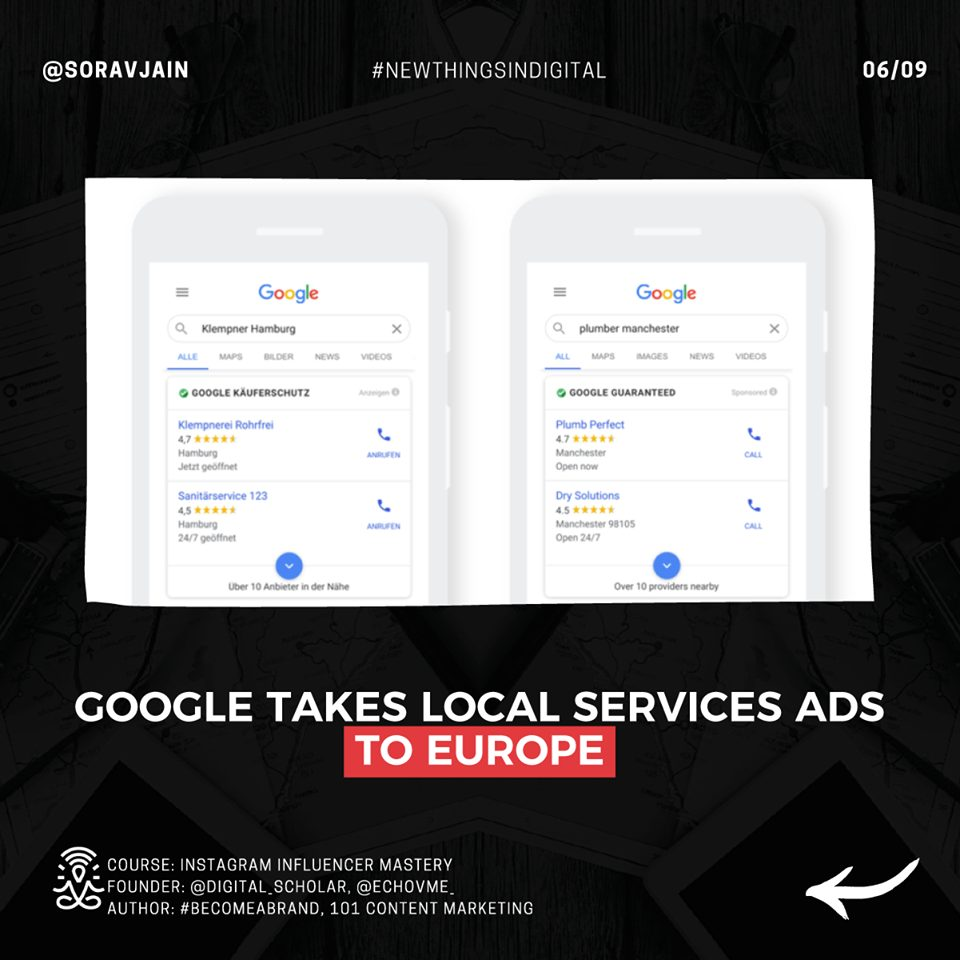 Google takes Local Services Ads to Europe