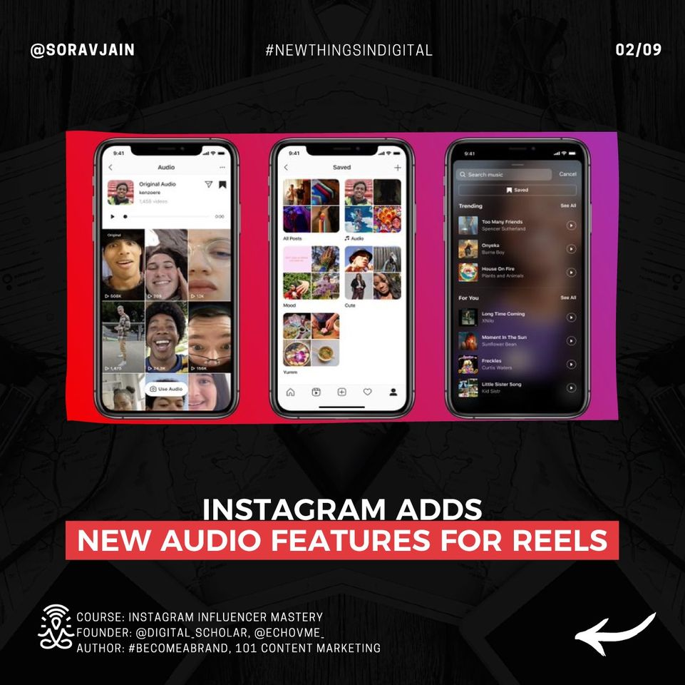 Instagram adds new audio features for Reels
