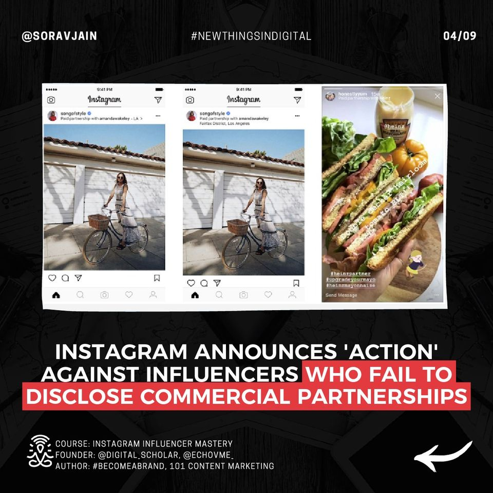 Instgram Announces 'Action' Against Influencers Who Fail To Disclose Commercial Partnerships