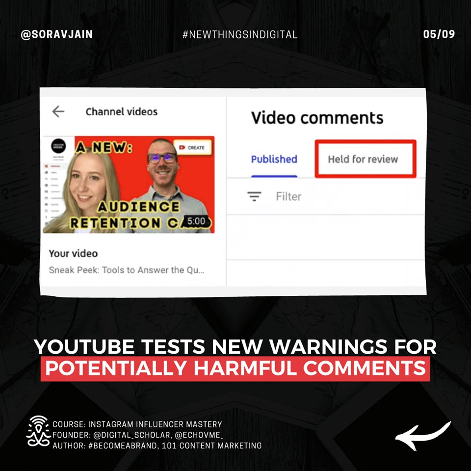 YouTube tests new warnings for potentially harmful comments