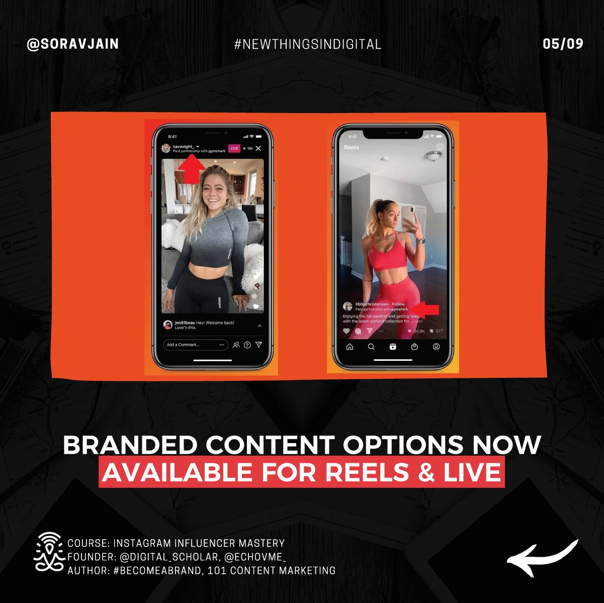 Branded content options now available for Reels & Live