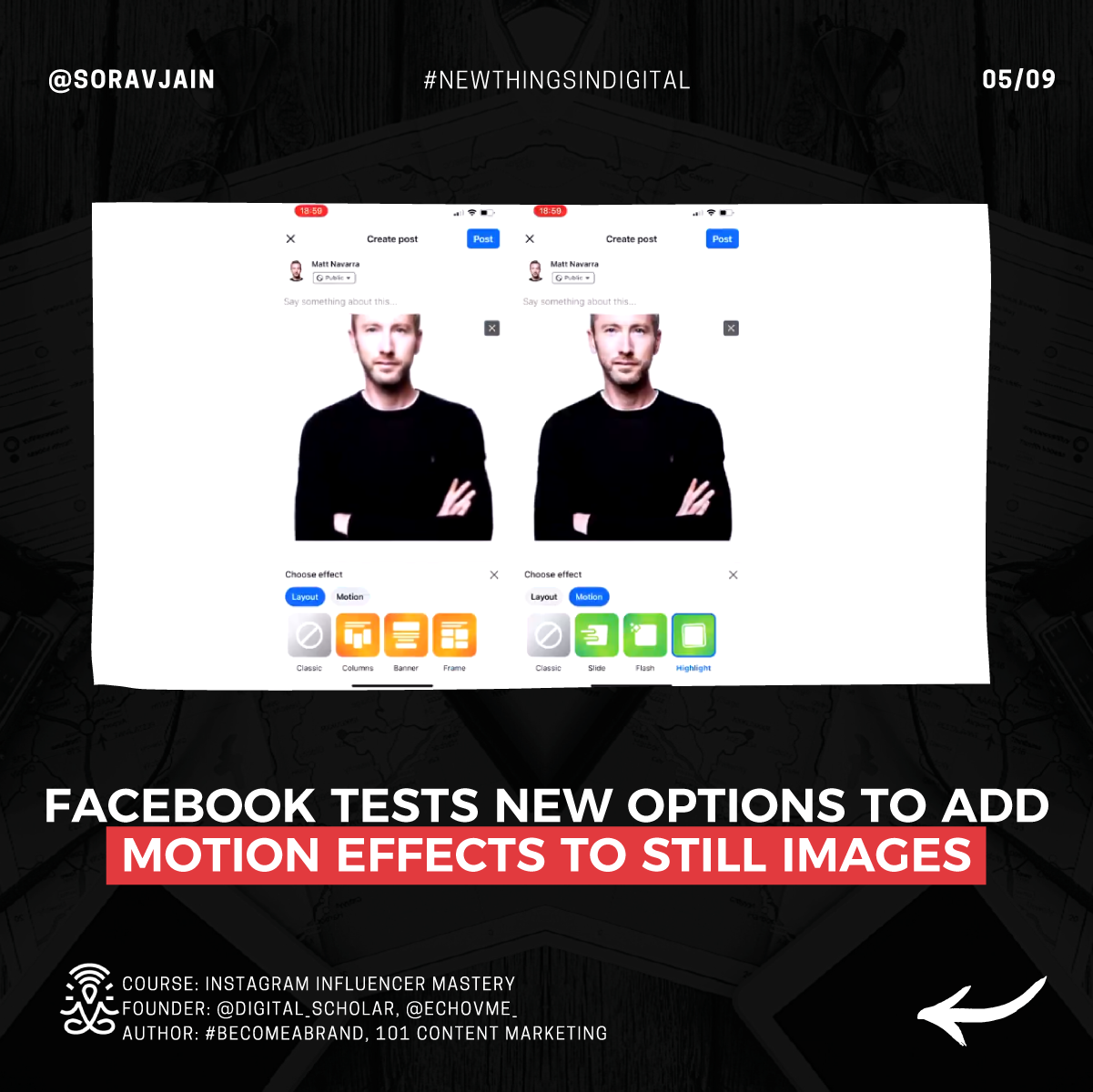 Facebook Tests New Options to Add Motion Effects to Still Images