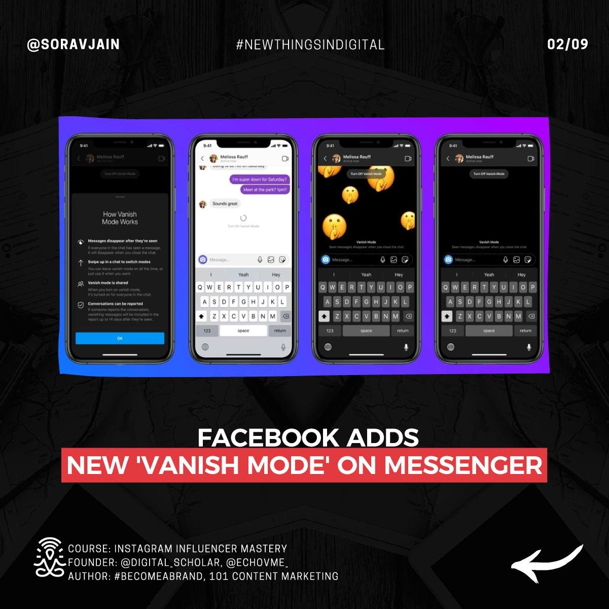 Facebook adds 'Vanish Mode' on Messenger