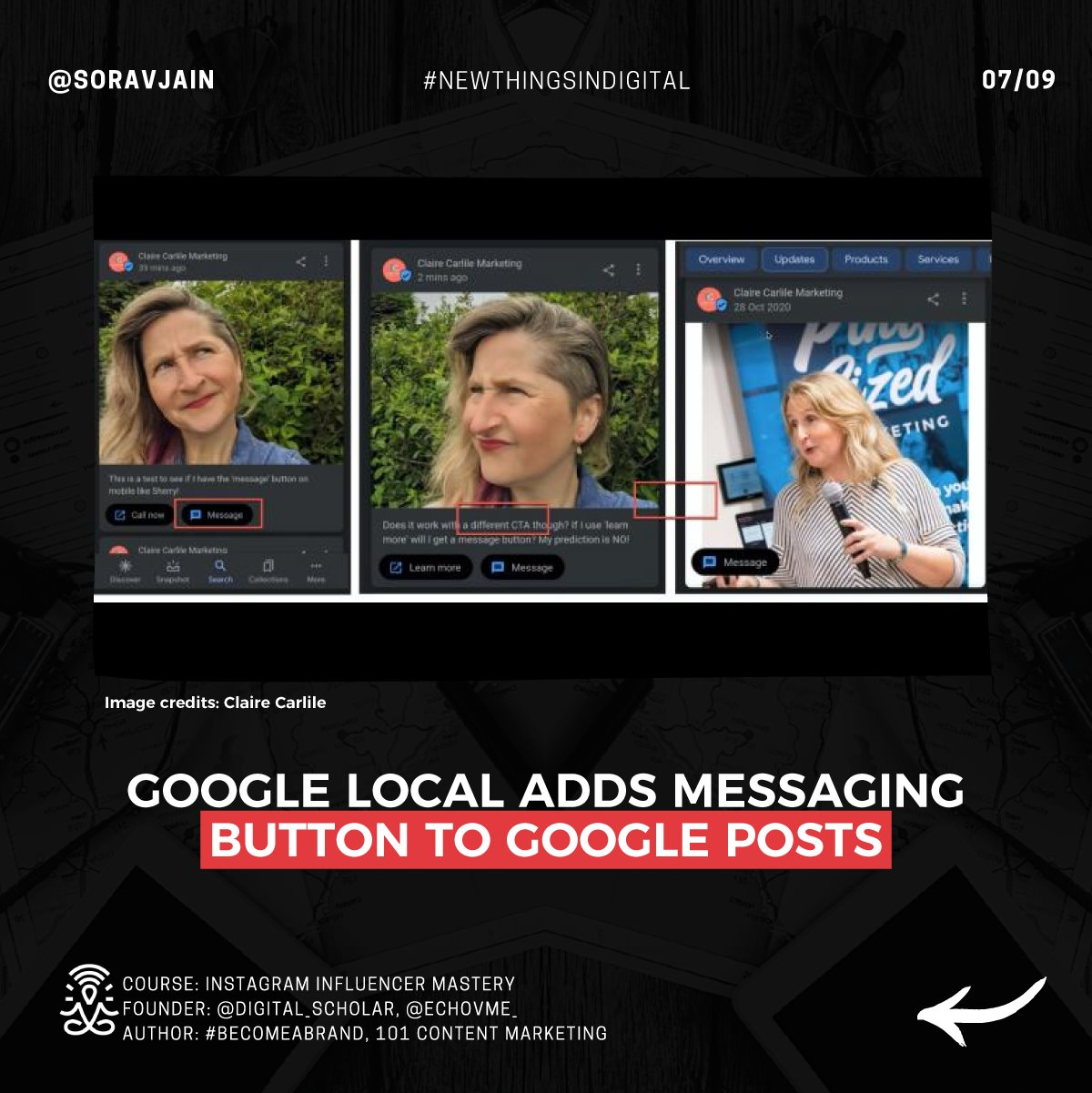 Google Local adds Messaging button to Google Posts