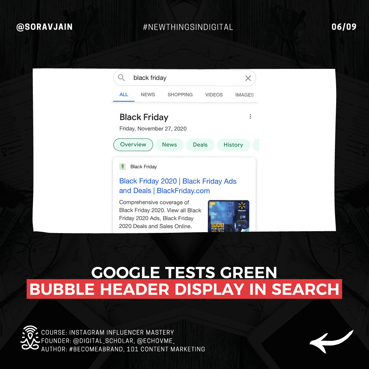 Google Tests Green Bubble Header Display In Search
