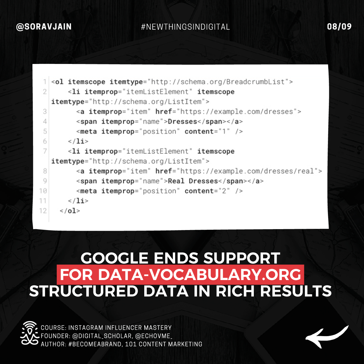 Google ends support for data-vocabulary.org structured data in rich results