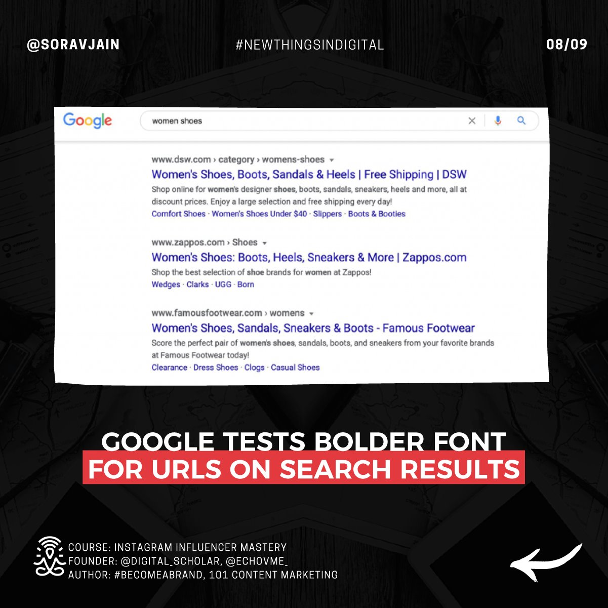 Google tests bolder font for URLs on Search results