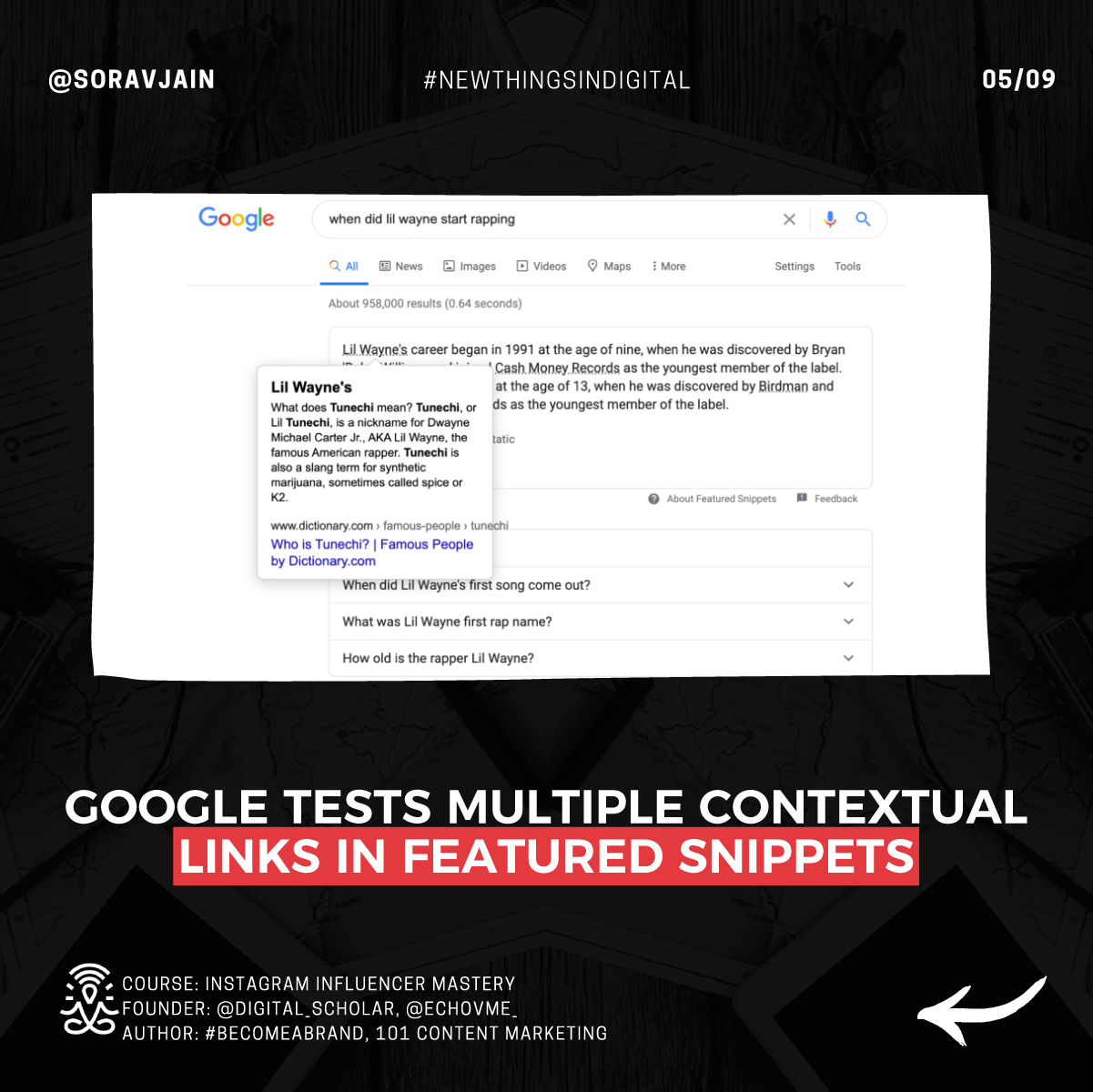 Google tests multiple contextual links in featured snippets