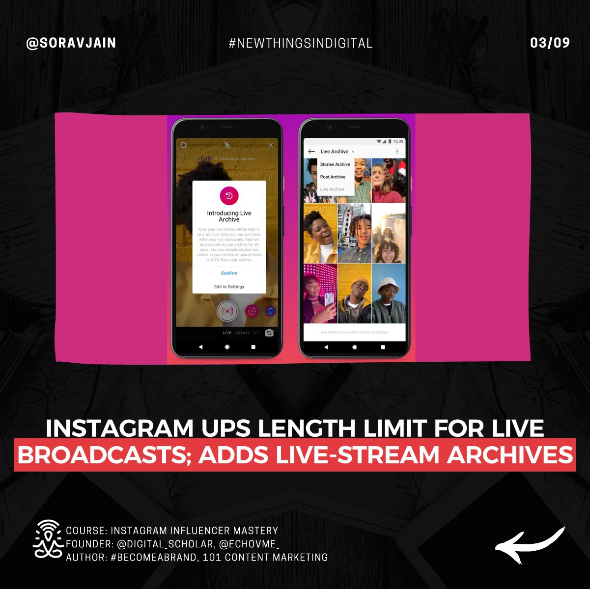 Instagram ups length limit for Live broadcasts; adds live-stream archives