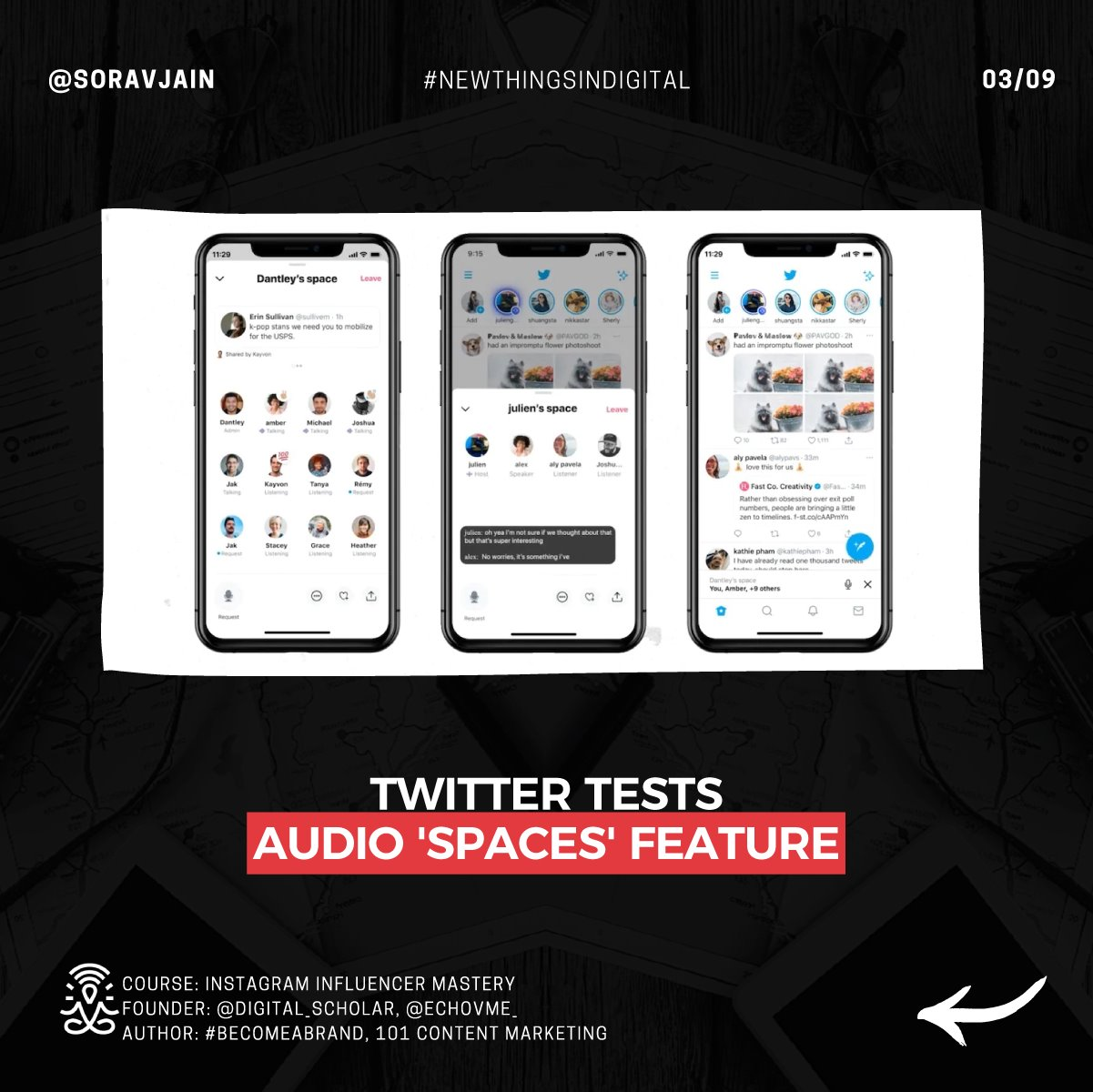 Twitter tests Audio' Spaces' feature