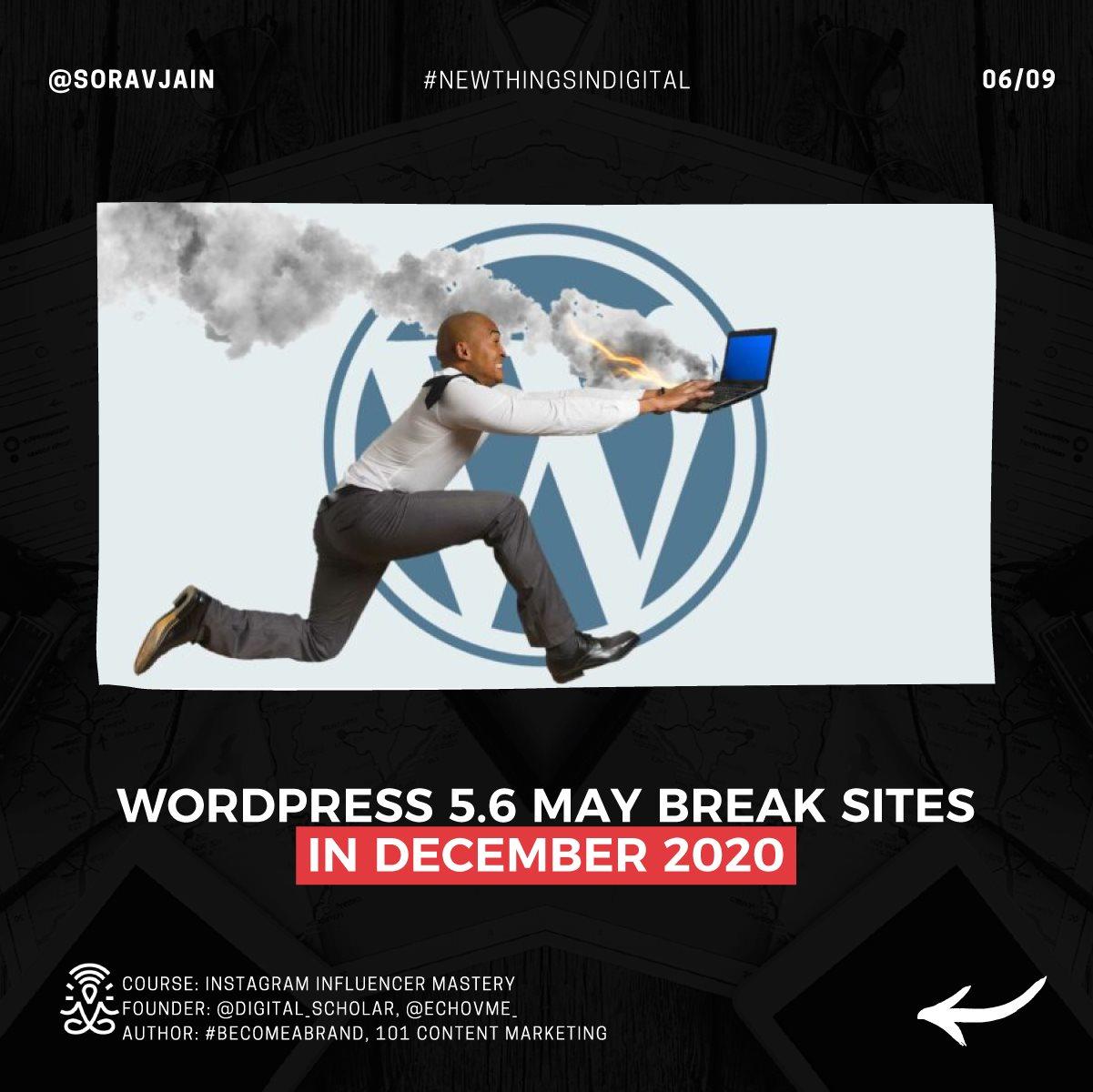 WordPress 5.6 May Break Sites in December 2020